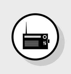 Radio sign flat black icon vector
