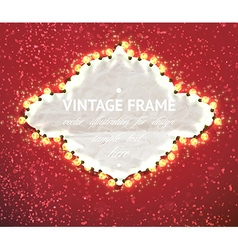 Romantic christmas frame vector