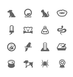 Simple Pets Icons vector image vector image