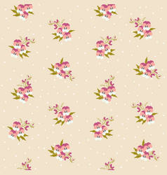small tiny pink pansy flowers bouquets scattered vector image vector image