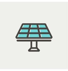 Solar Panel thin line icon vector image