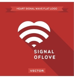 The signal for love logo icon vector image