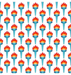 Torch pattern vector image vector image