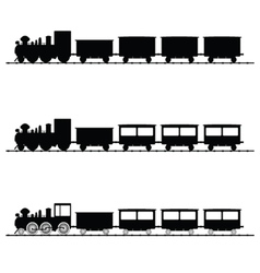 Train black silhouette vector