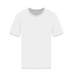 tshirt front view template vector image