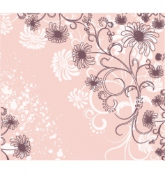 vector floral decoration flowers background vector image vector image