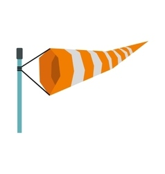 Supplies a wind sock icon flat style vector