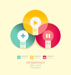 Modern circle design soft color template vector