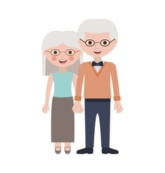 old woman and man cartoon vector image