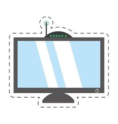 computer moden antena signal vector image