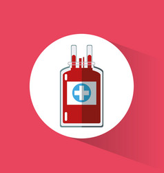 Bag blood plastic cross care vector