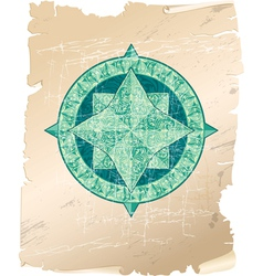 Wind rose parchment 380 vector