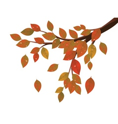 Fall leaves on branch2 vector