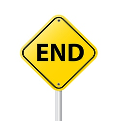 END vector image