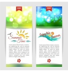 Shining summer typographical banners with blurred vector
