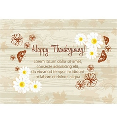 Happy thanksgiving day with butterflies vector