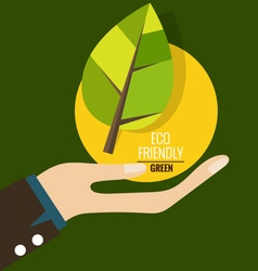 Eco friendly ecology concept vector
