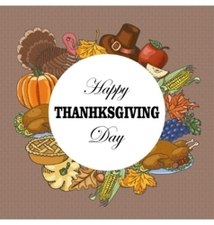 Background with elements of thanksgiving vector