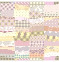 Patchwork of wavy patches vector