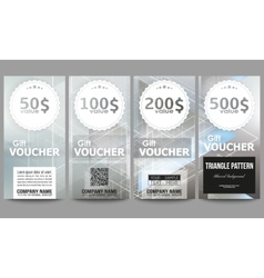 Set of modern gift voucher templates abstract vector