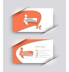 Hospital business card set vector