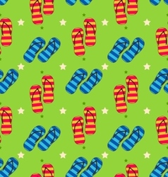 Summer seamless pattern with set of pair of flip vector