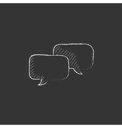 Speech squares Drawn in chalk icon vector image