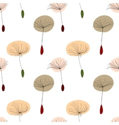 Dandelion seeds on white background vector