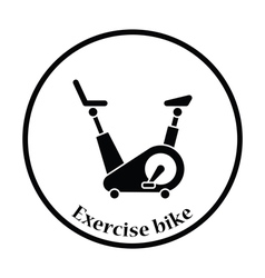 Icon of exercise bicycle vector