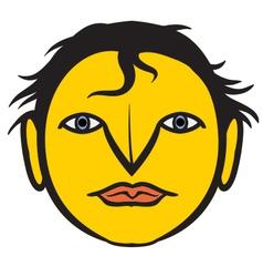 A human face vector