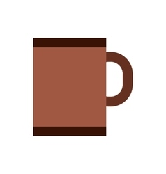 Brown tea or coffee mug icon flat style vector image