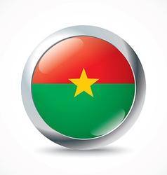 Burkina Faso flag button vector image vector image