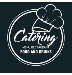 Catering delicious food icon vector