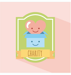 Charity donate children vector