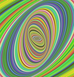 Colorful ellipse fractal design background vector