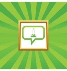 Conical flask message picture icon vector