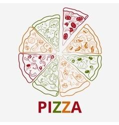 contour pizza vector image vector image
