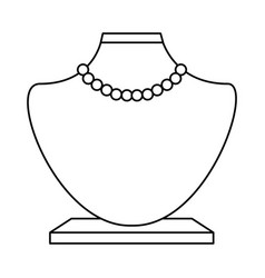 Female manequin with necklace vector