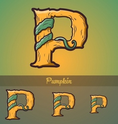 Halloween decorative alphabet - P letter vector image vector image