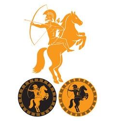 horseback vector image vector image