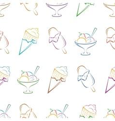 Ice cream pictogram seamless vector