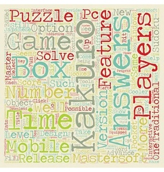 Kakuro puzzles by mastersoft text background vector