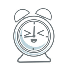 Kawaii clock alarm school cartoon icon vector