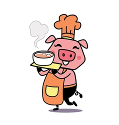Pig chef vector