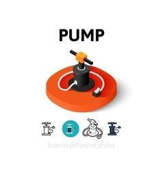 Pump icon in different style vector