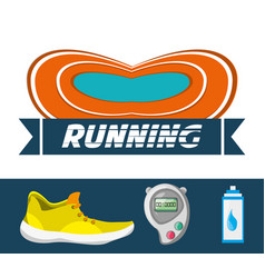 Running shoes sport competition concept vector