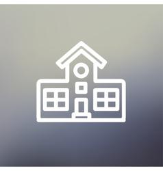 School building thin line icon vector image vector image