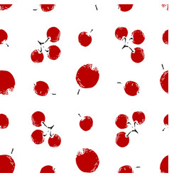 seamless pattern with holly berries vector image vector image