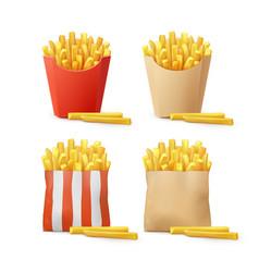 set of potatoes vector image vector image