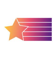 Star flag color design creative vector